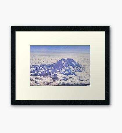 Above Mount Rainier in HDR Framed Print