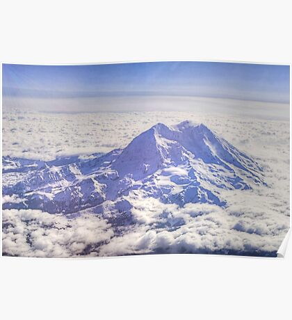 Above Mount Rainier in HDR Poster