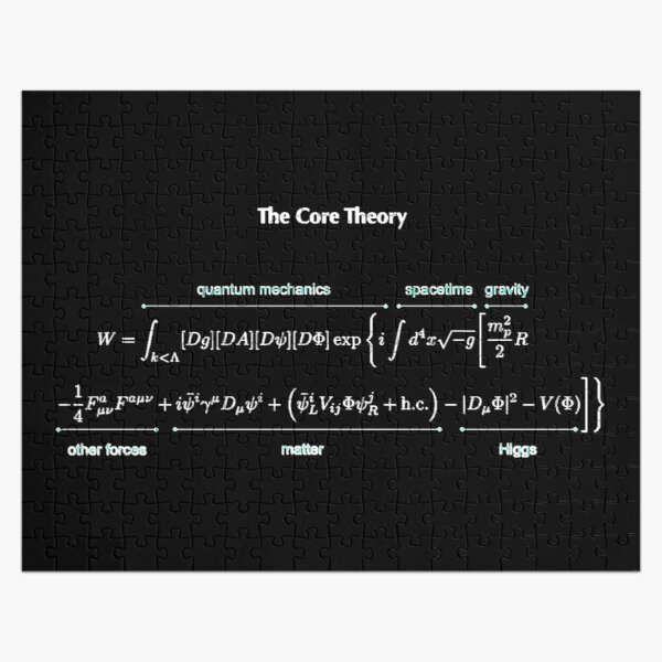 The Core Theory: Quantum Mechanics, Spacetime, Gravity, Other Forces, Matter, Higgs Jigsaw Puzzle