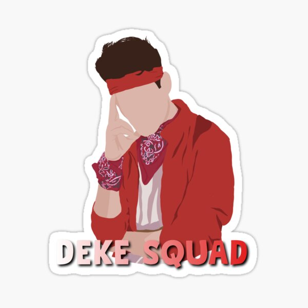 Deke squad pop art text design  Sticker