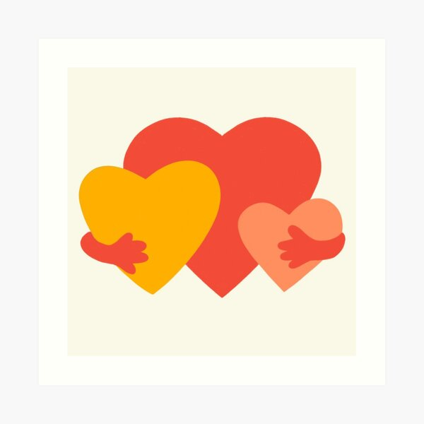 HUGGING HEARTS Art Print