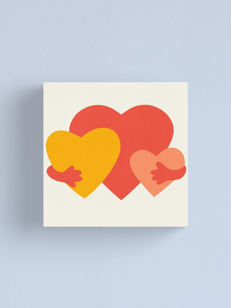Alternate view of HUGGING HEARTS Canvas Print