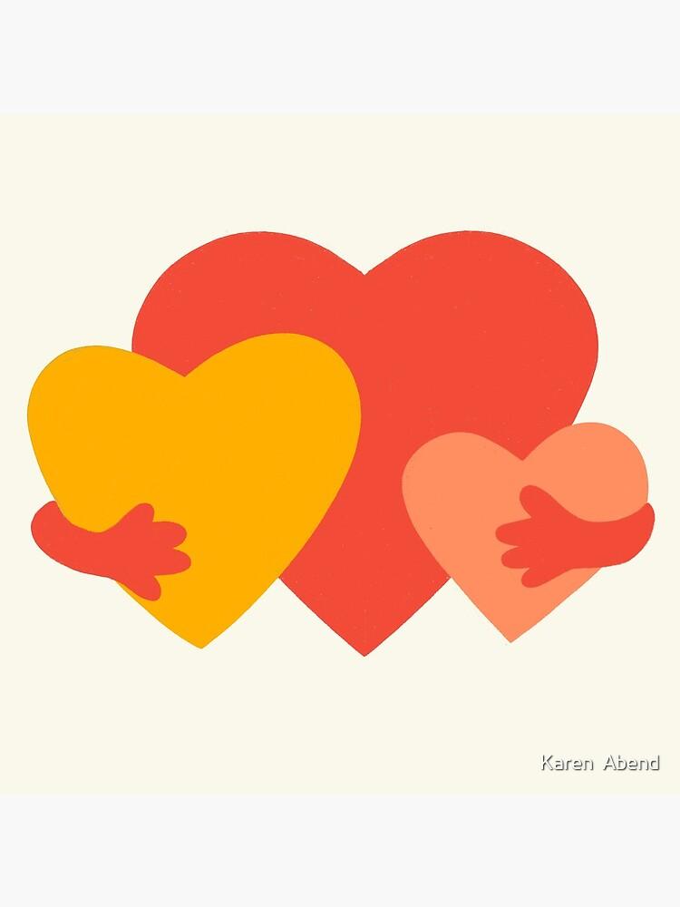 HUGGING HEARTS by karenabend