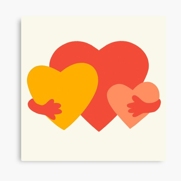 HUGGING HEARTS Canvas Print