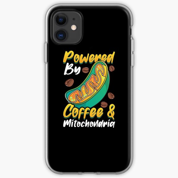 Powered By Coffee And Mitochondria iPhone Soft Case