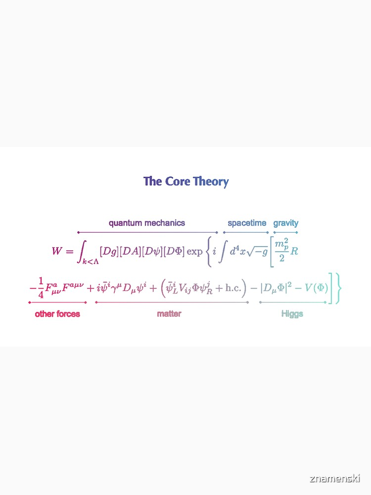 The Core Theory: Quantum Mechanics, Spacetime, Gravity, Other Forces, Matter, Higgs by znamenski