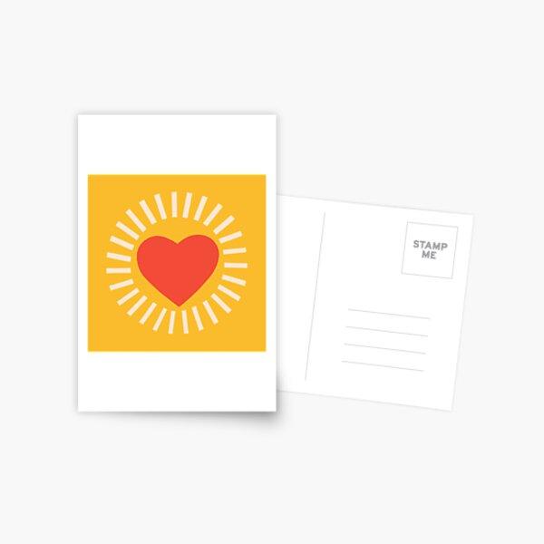 WARM HEART Postcard