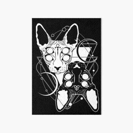 Sphynx cats with ankh and Leviathan cross symbols Art Board Print
