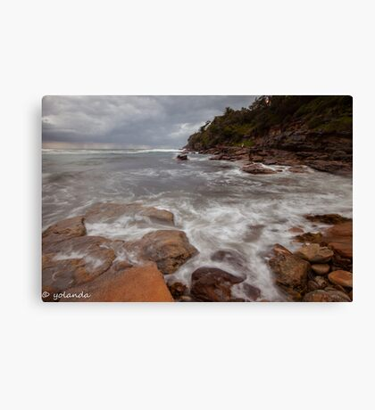 Satin Rocks Canvas Print