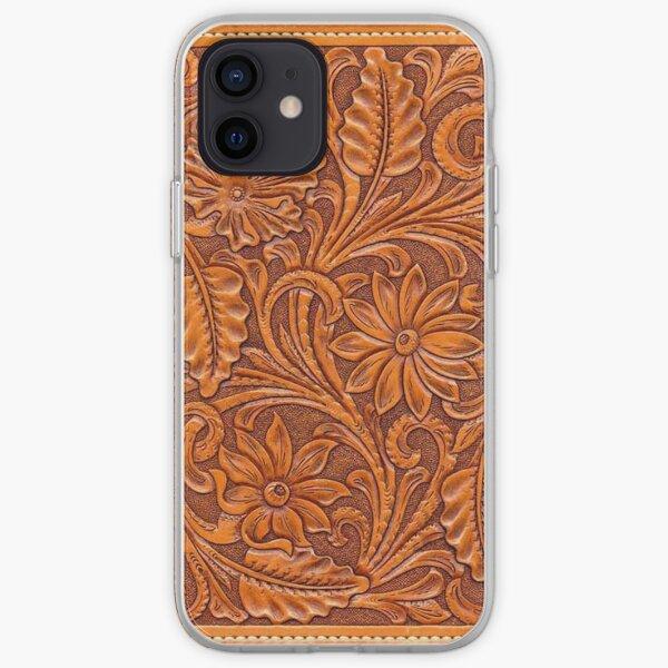 Cuir brun repoussé Coque souple iPhone