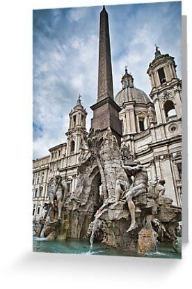 La fontana dei quattro fiumi a Piazza Navona by Andrea Rapisarda