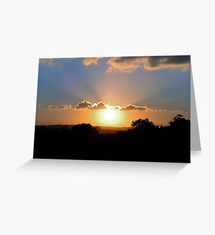 Sun rays Greeting Card