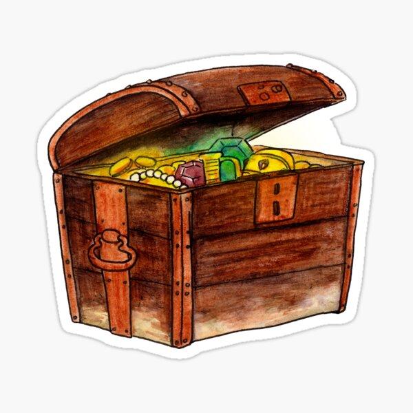 Pirate's Treasure Box Sticker