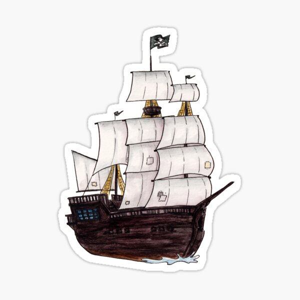 Pirate Ship Sticker