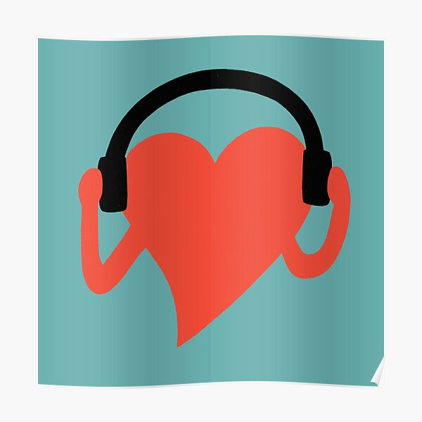 GROOVING HEART Poster