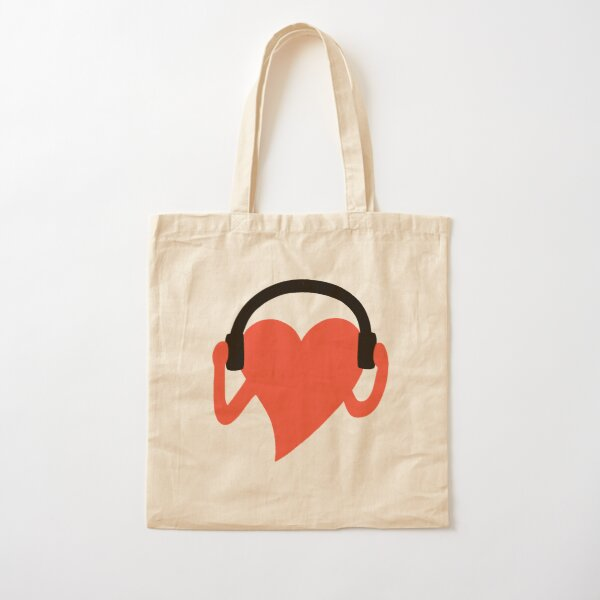 GROOVING HEART Cotton Tote Bag
