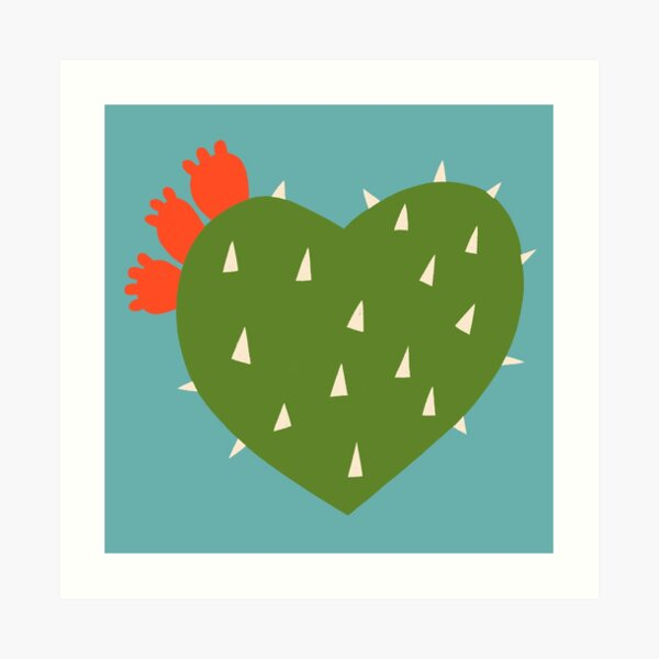 PRICKLY HEART Art Print
