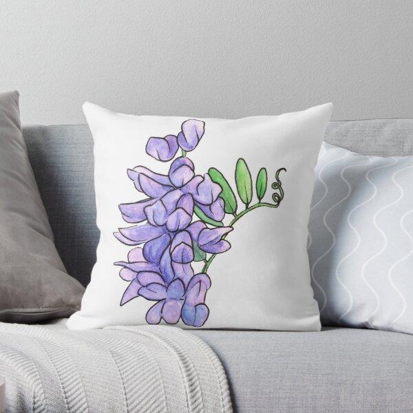 Tufted Vetch Flower Throw Pillow
