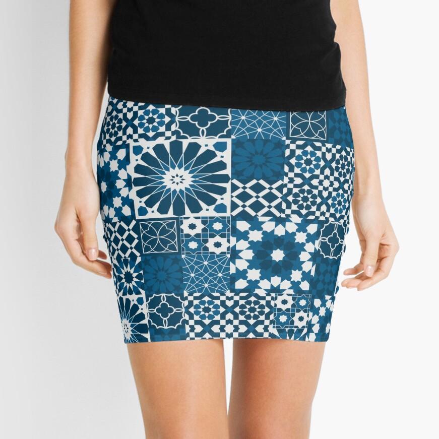 Moroccan tiles 3 Mini Skirt