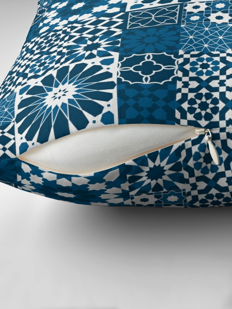 Alternate view of Moroccan tiles 3 Throw Pillow
