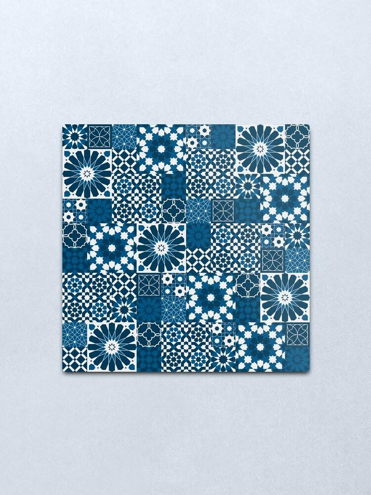 Alternate view of Moroccan tiles 3 Metal Print