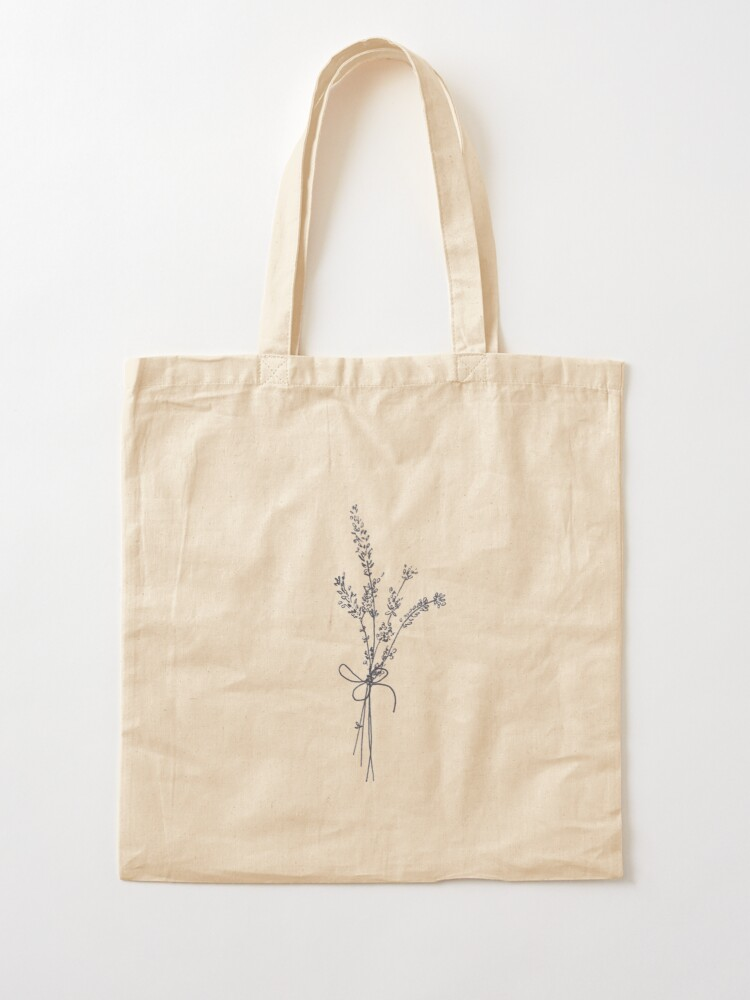 Alternate view of Lovely Lavender Bunch Tote Bag