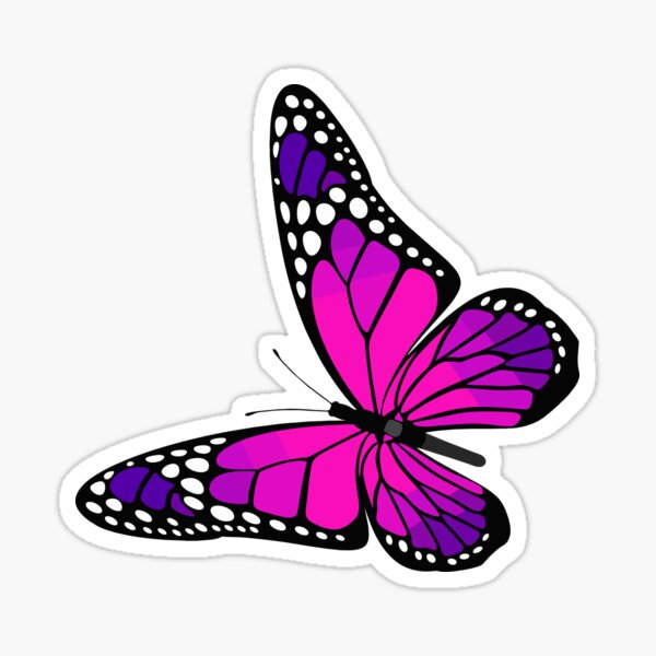Butterfly Sticker Sticker