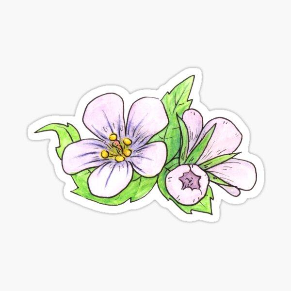 Cranesbill Flower Sticker
