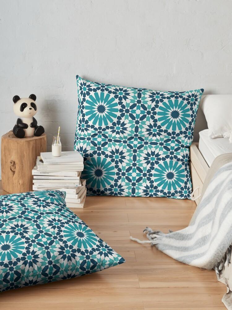 Alternate view of Moroccan tiles 4 Floor Pillow