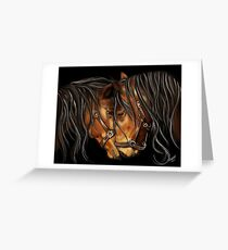 Hearts A Fire - Horse Portrait Greeting Card