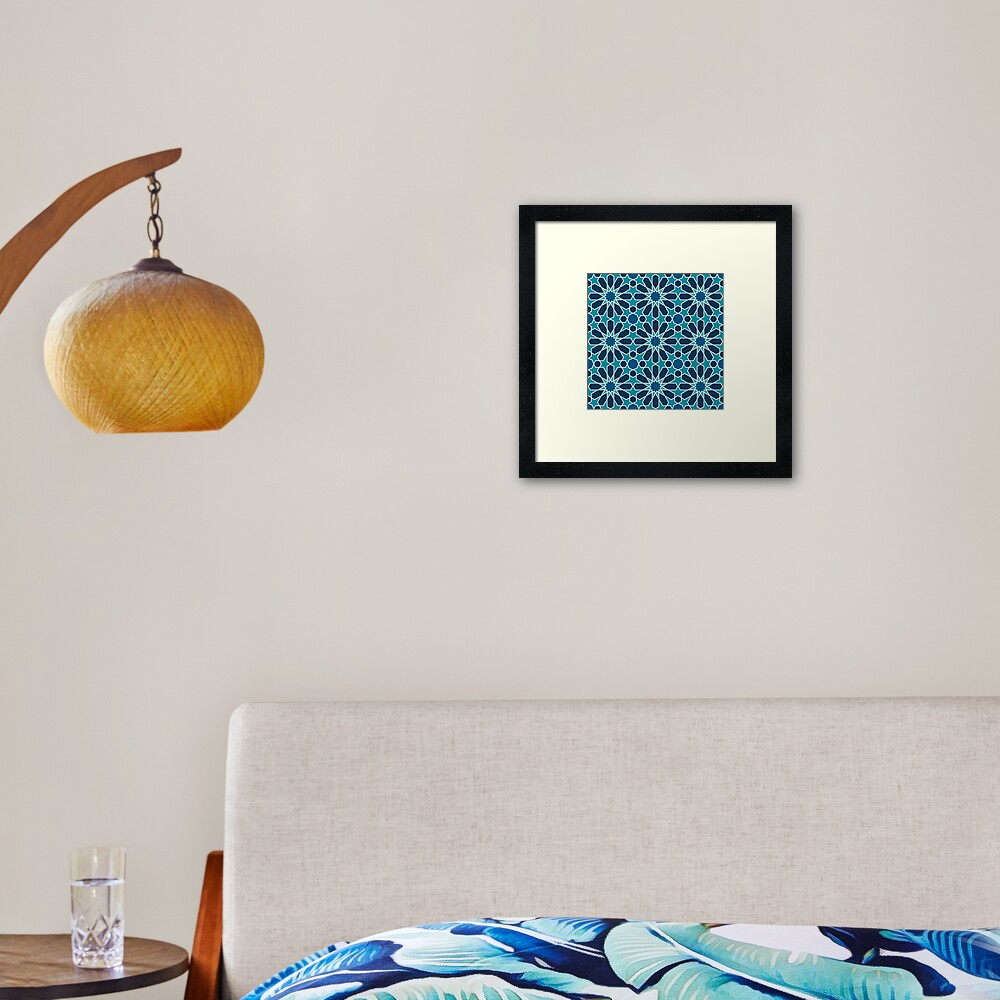Moroccan tiles 5 Framed Art Print