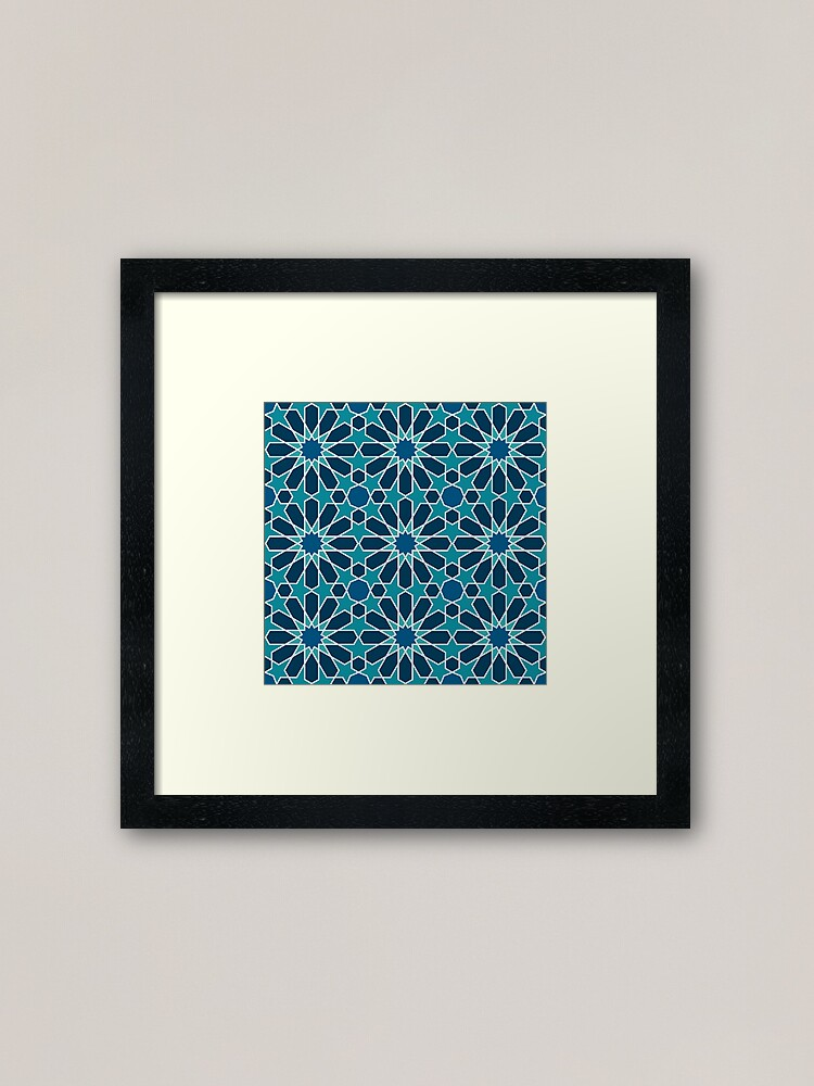 Alternate view of Moroccan tiles 5 Framed Art Print