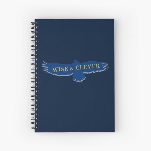 Blue Eagle Raven Flying Spiral Notebook