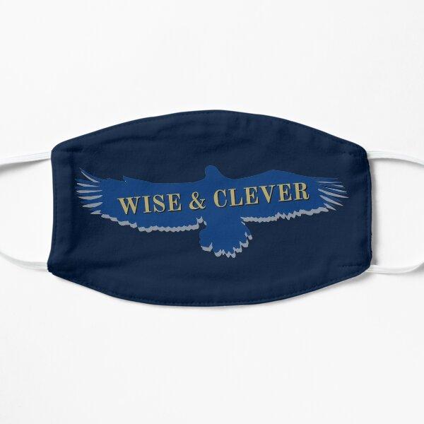 Cuervo águila azul volando Mascarilla plana