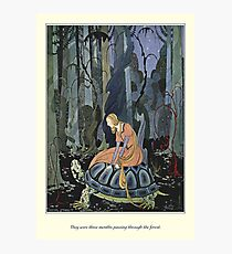 Old French Fairy Tales: Through the Forest Photographic Print