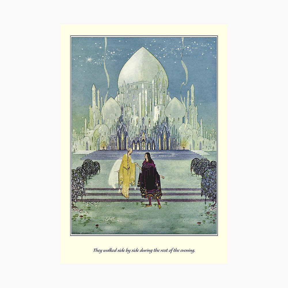 Old French Fairy Tales: They Walked Side by Side Fotodruck