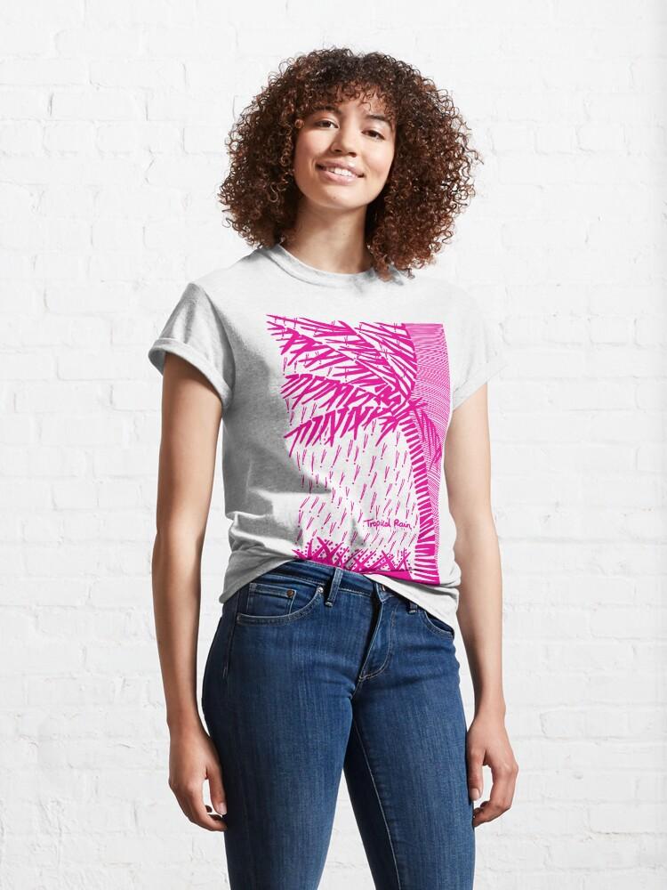 Alternate view of Tropical Rain Prime Magenta Classic T-Shirt