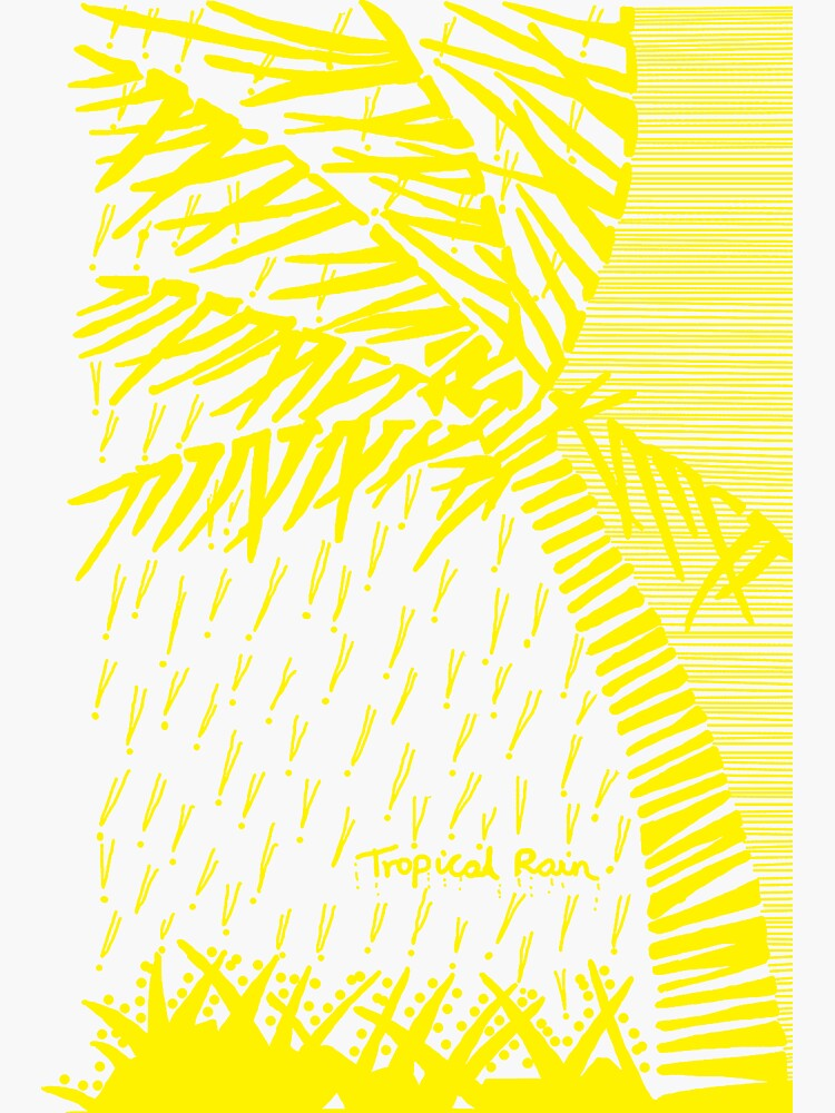 Tropical Rain Prime Yellow by hoxtonboy