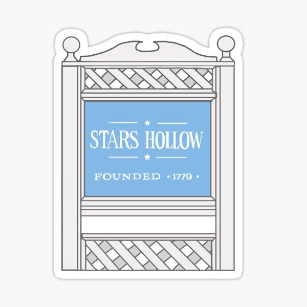 Stars Hollow Sign Sticker