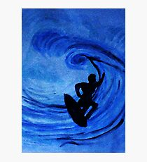 Surfing  #3, watercolor Photographic Print