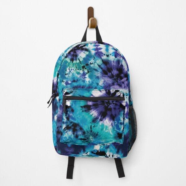 Aqua Summer Tie Dye Batik Wax Tie Die Print Backpack