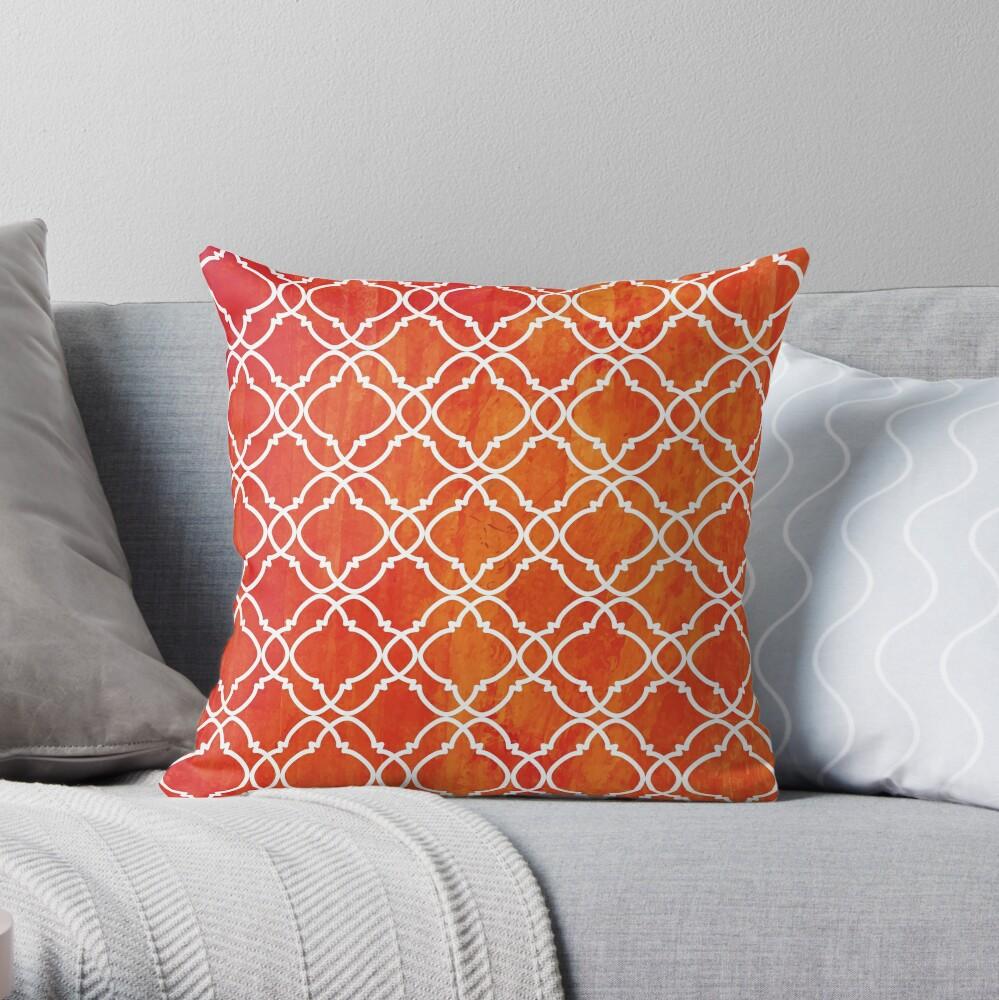 Moroccan 7 Throw Pillow