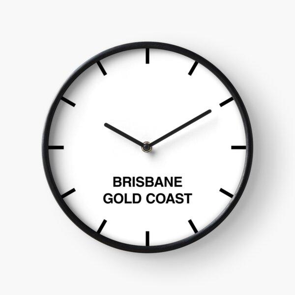 Brisbane / Gold Coast Time Zone Newsroom Wall Clock Clock