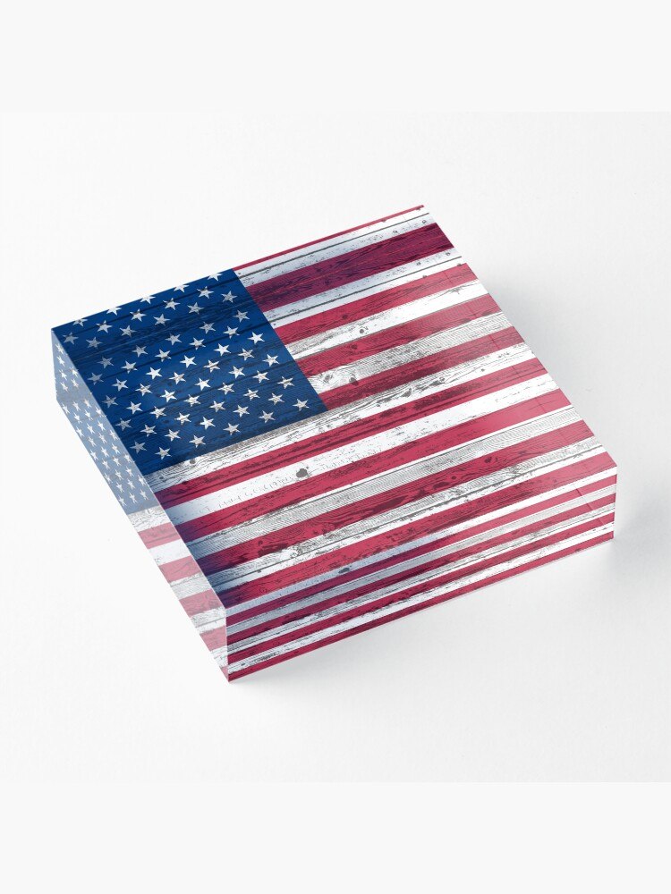 Alternate view of USA flag Acrylic Block