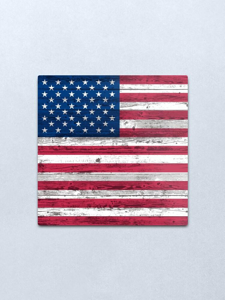 Alternate view of USA flag Metal Print