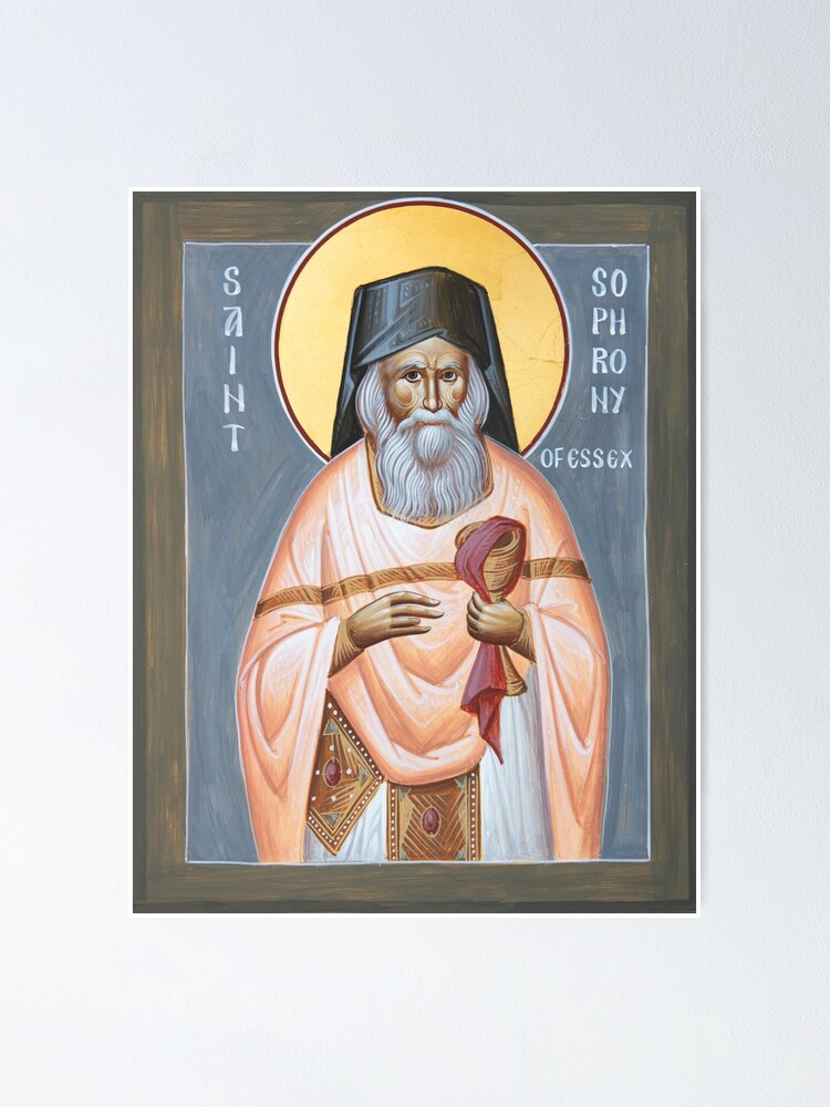 Alternate view of St Sophrony of Essex Poster