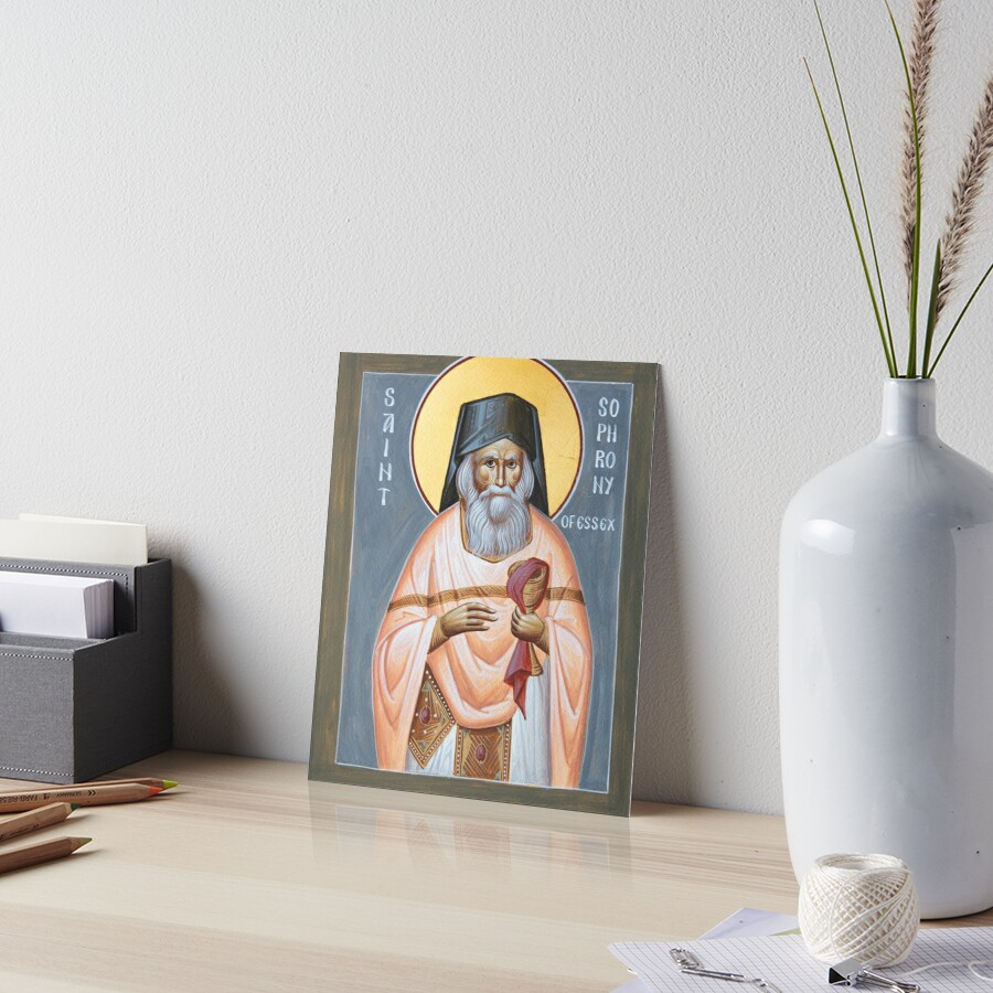 St Sophrony of Essex Art Board Print