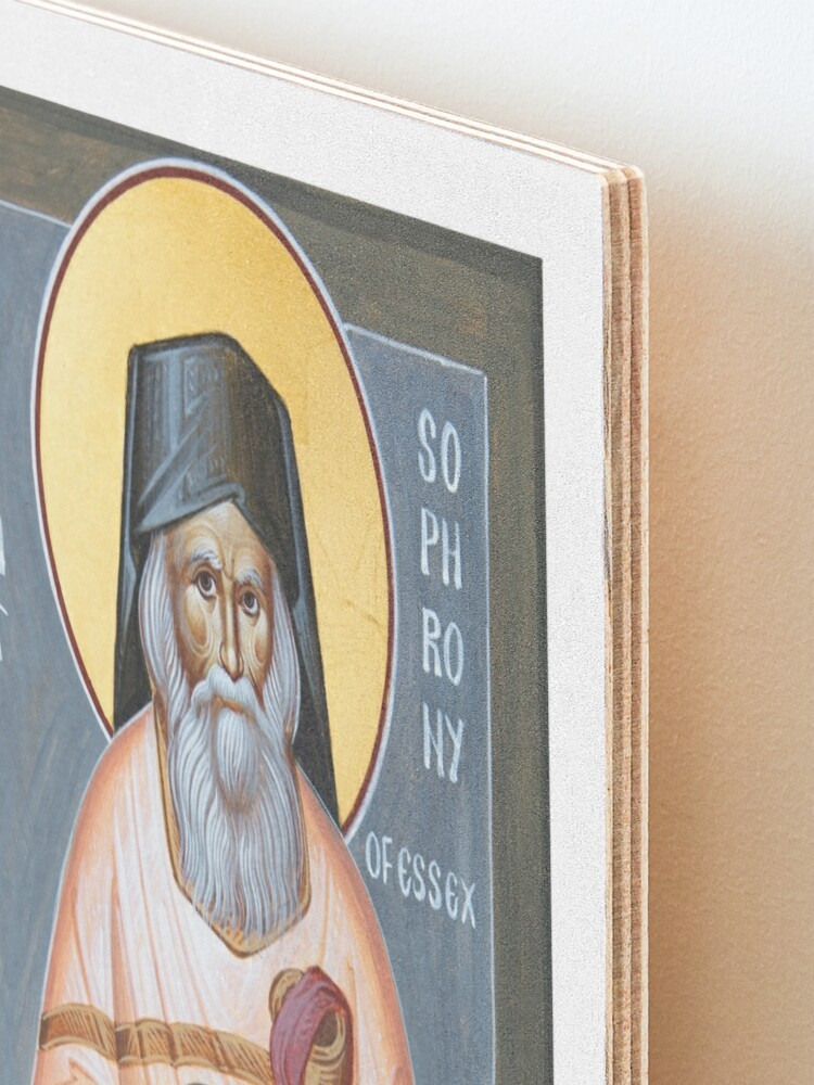 Alternate view of St Sophrony of Essex Mounted Print