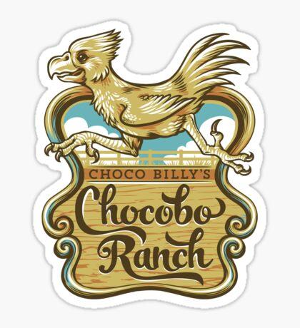 Choco Billy's Chocobo Ranch Sticker