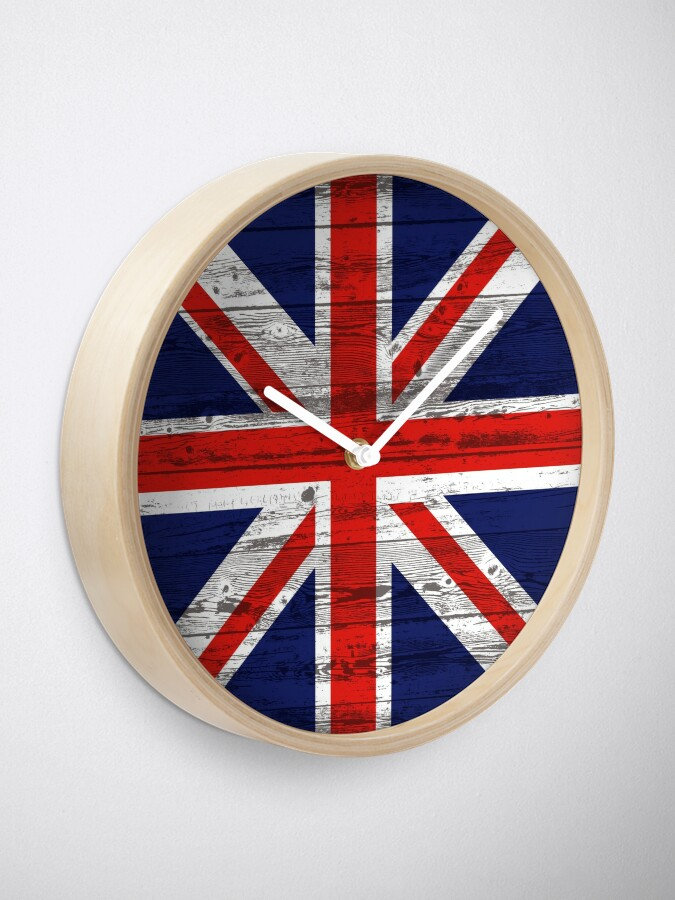 Alternate view of Union Jack flag Clock